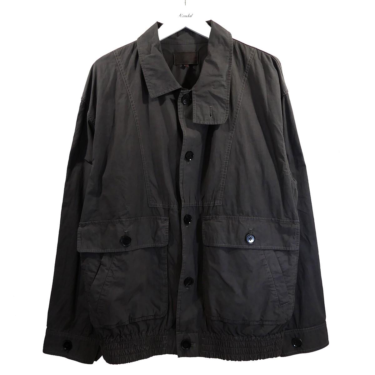 【中古】YOKO SAKAMOTO 2020SS OVER BOMBER JACKET オーバーサイズジャケット ブラウン サイズ:L 【170820】(ヨウコサカモト)