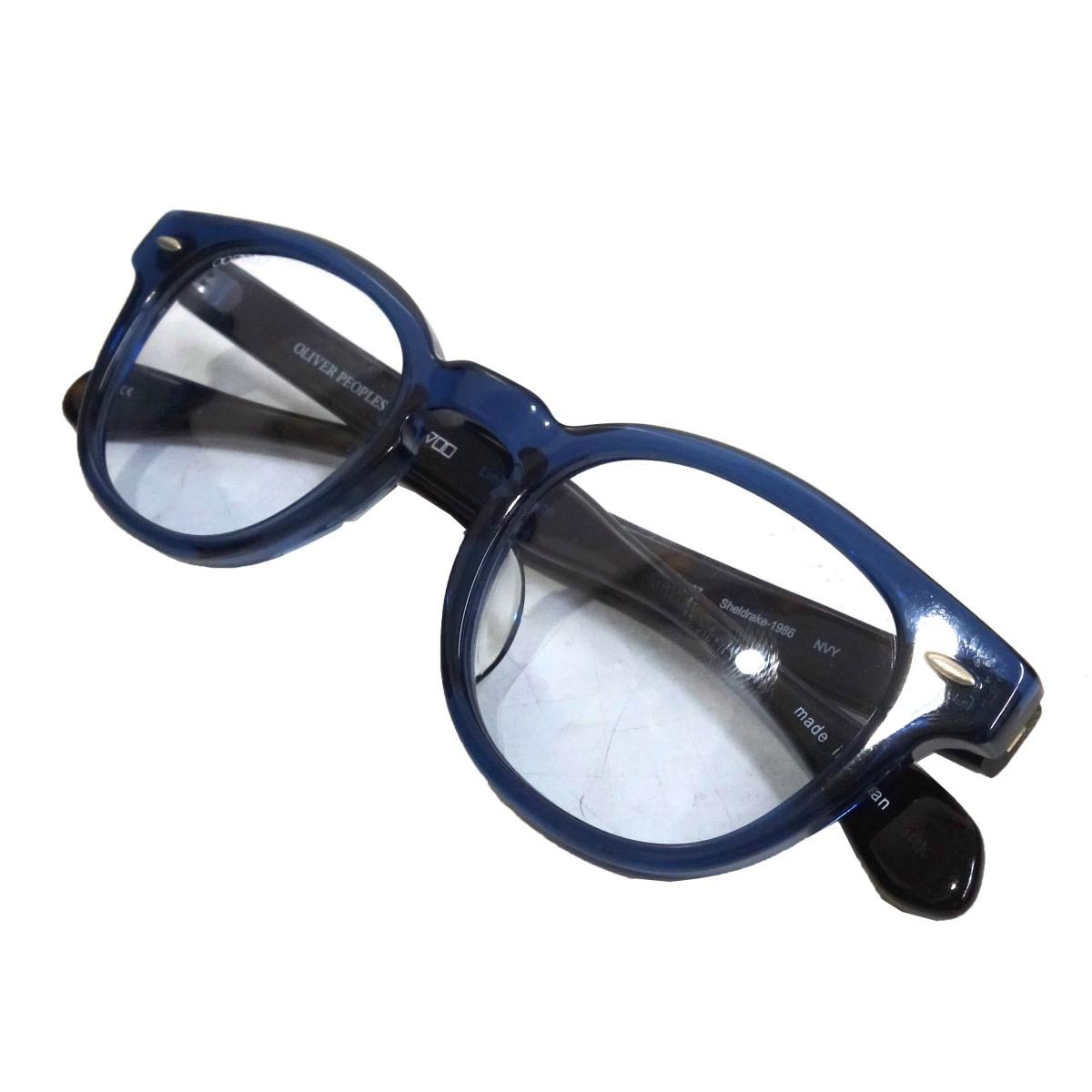 【中古】OLIVER PEOPLES 「sheldrake-1986」眼鏡 ライトブルー×ブルー×ブラック サイズ:- 【180820】(オリバーピープルズ)