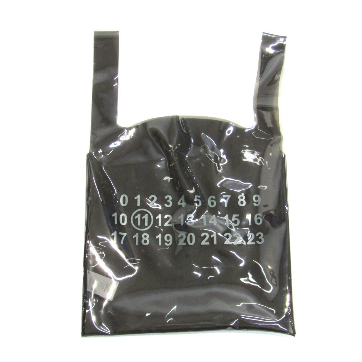 【中古】Martin Margiela 2019SS PVC SHOPPER TOTE BAG ショッパー型 トートバッグ ブラック 【220820】(マルタンマルジェラ)