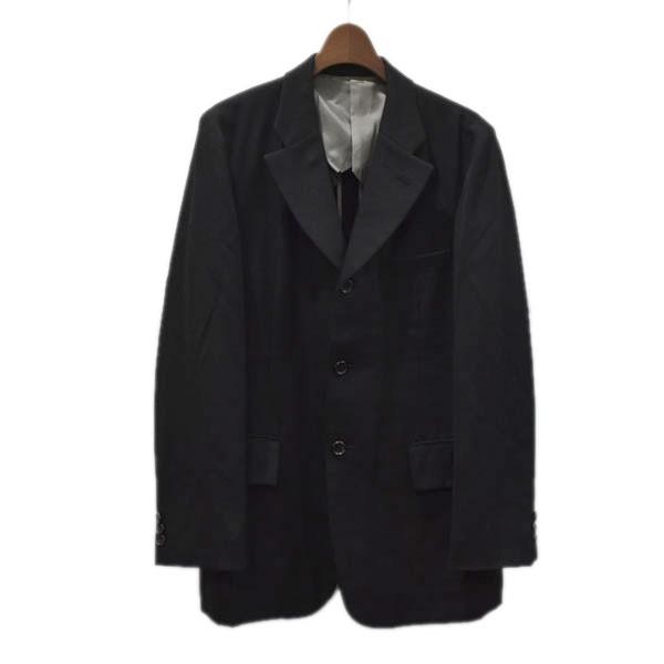【中古】COMME des GARCONS HOMME PLUS AD2001 3B ノッチドラペル テーラードジャケット ブラック サイズ:S 【230820】(コムデギャルソンオムプリュス)