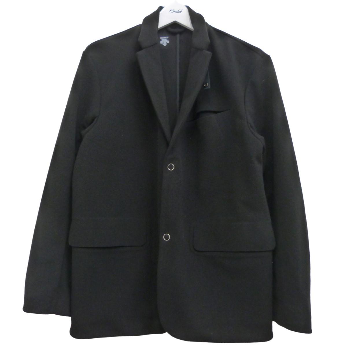 【中古】DESCENTE PAUSE テーラードジャケット ブラック サイズ:L 【230820】(デサント ポーズ)
