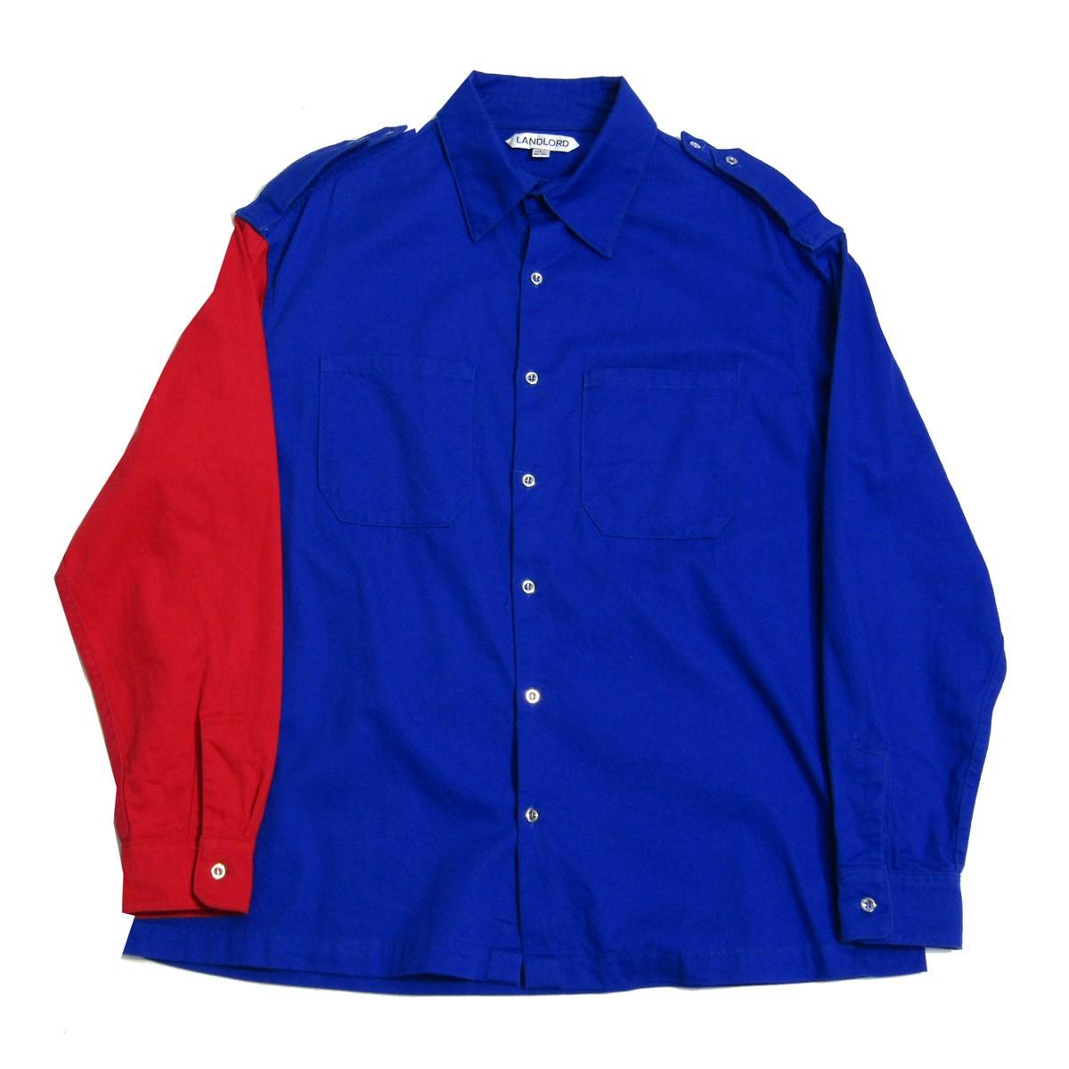 【中古】LANDLORD 2018AW バイカラーミリタリーシャツジャケット ブルー サイズ:S 【220820】(ランドロード)