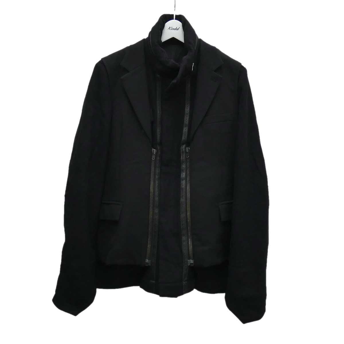 【中古】NUMBER(N)INE ドッキングウールジャケット ブラック サイズ:2 【230820】(ナンバーナイン)