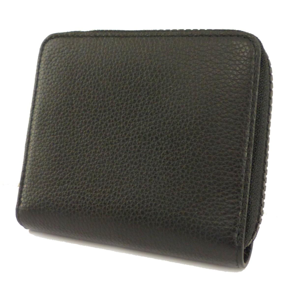 【中古】MARTIN MARGIELA 11 19SS LEATHER WALLET 財布 ブラック 【230820】(マルタンマルジェラ 11)