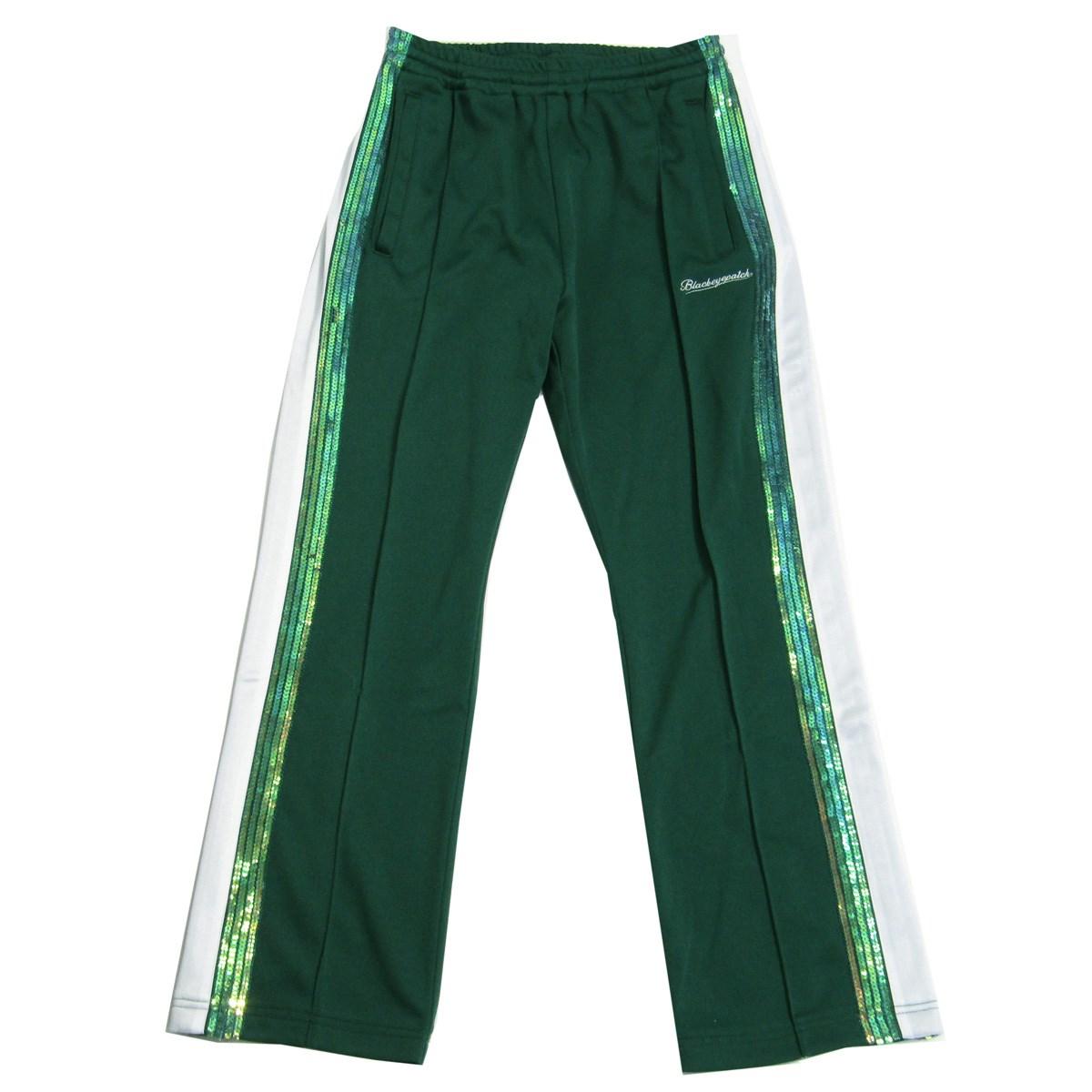 【中古】THE BLACK EYE PATCH 2020SS Spangle Jersey Track Pants ジャージートラックパンツ グリーン サイズ:M 【230820】(ブラックアイパッチ)