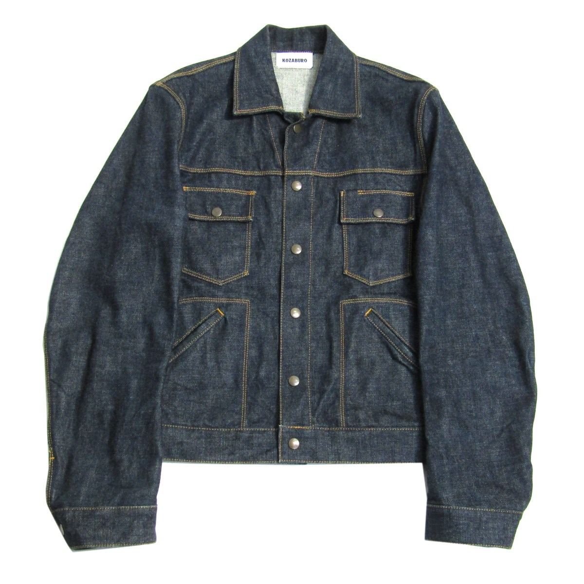 【中古】KOZABURO 2018SS SELVEDGE DENIM TAILORED SLEEVE JEAN JACKET インディゴ サイズ:1 【230820】(コウザブロウ)