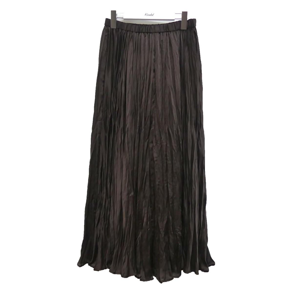 【中古】DEUXIEME CLASSE 20SS プリーツスカート ブラウン サイズ:FREE 【240820】(ドゥーズィエムクラス)