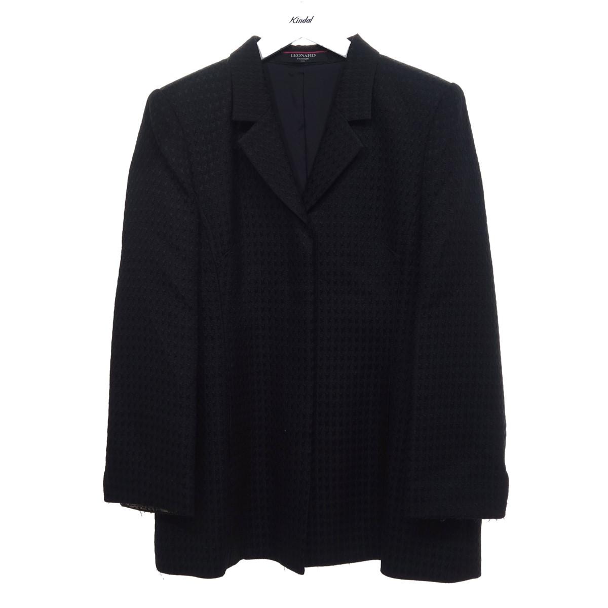 【中古】LEONARD シルクウール ジャケット ブラック サイズ:13AR 【240820】(レオナール)