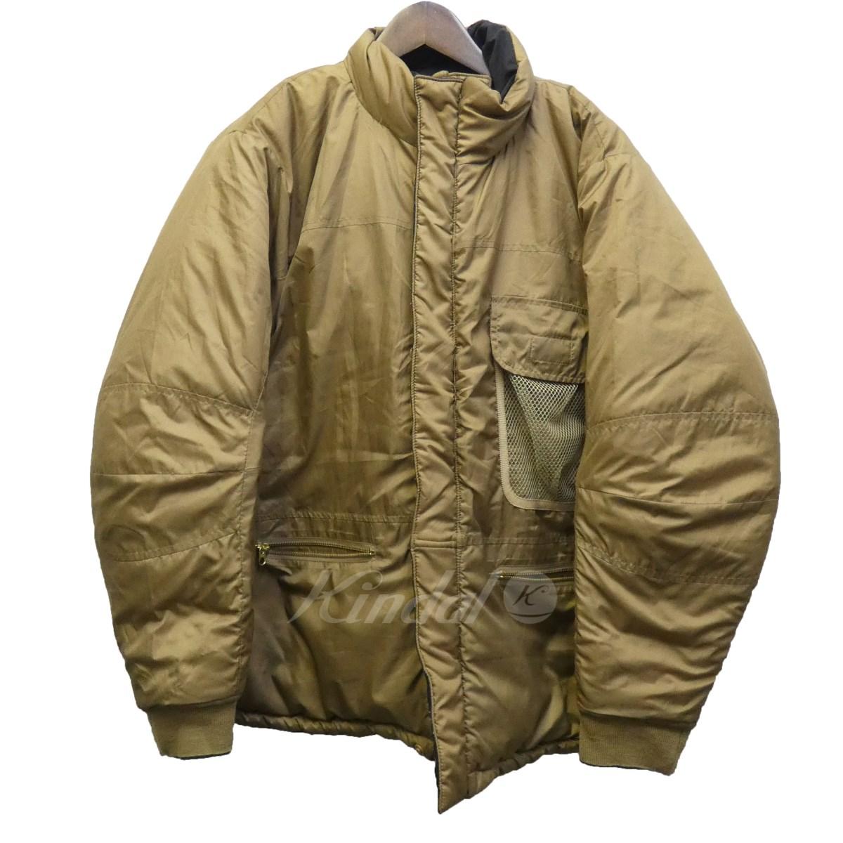 【中古】hombre nino × CORONA 15AW リバーシブル中綿ジャケット ベージュ×ブラック サイズ:L 【240820】(オンブレ ニーヨ × コロナ)