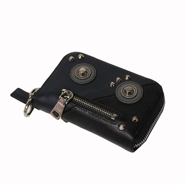 【中古】PRADA SAFFIANO ROBOT ロボット カードケース コインケース ネイビー サイズ:- 【230820】(プラダ)
