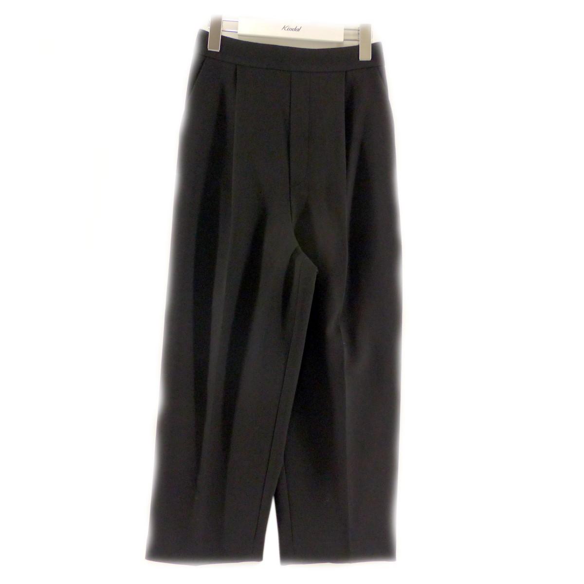 【中古】ENFOLD ダブルクロスゴムクロップドトラウザー/パンツ ブラック サイズ:36 【240820】(エンフォルド)