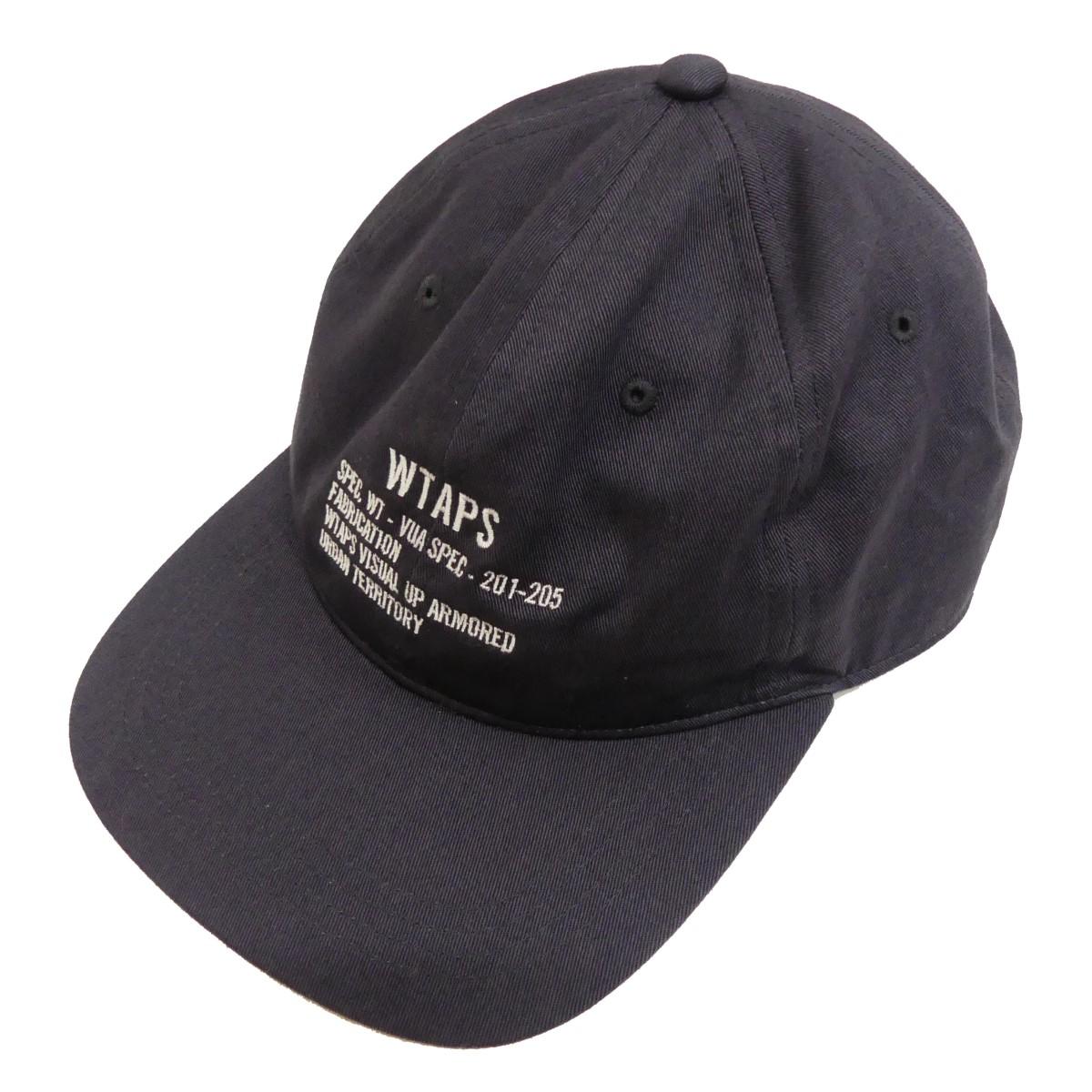 【中古】WTAPS 20SS ロゴ刺繍キャップ ネイビー サイズ:00 【250820】(ダブルタップス)
