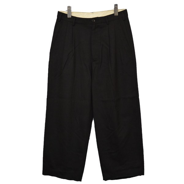【中古】MAGLIANO 2019AW タック入り ウールスラックス パンツ ブラック サイズ:S 【240820】(マリアーノ)