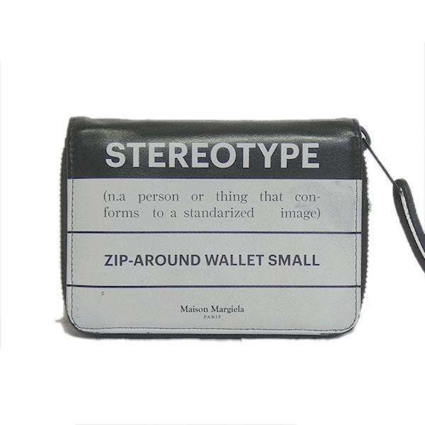 【中古】Maison Margiela11 2019SS「STEREOTYPE」ラウンドジップ財布 ブラック サイズ:- 【250820】(メゾンマルジェラ11)