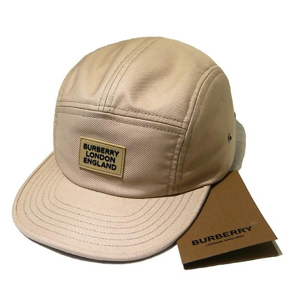 【中古】BURBERRY 2020SS ロゴアップリケコットンツイルキャップ 帽子 ベージュ サイズ:M 【250820】(バーバリー)