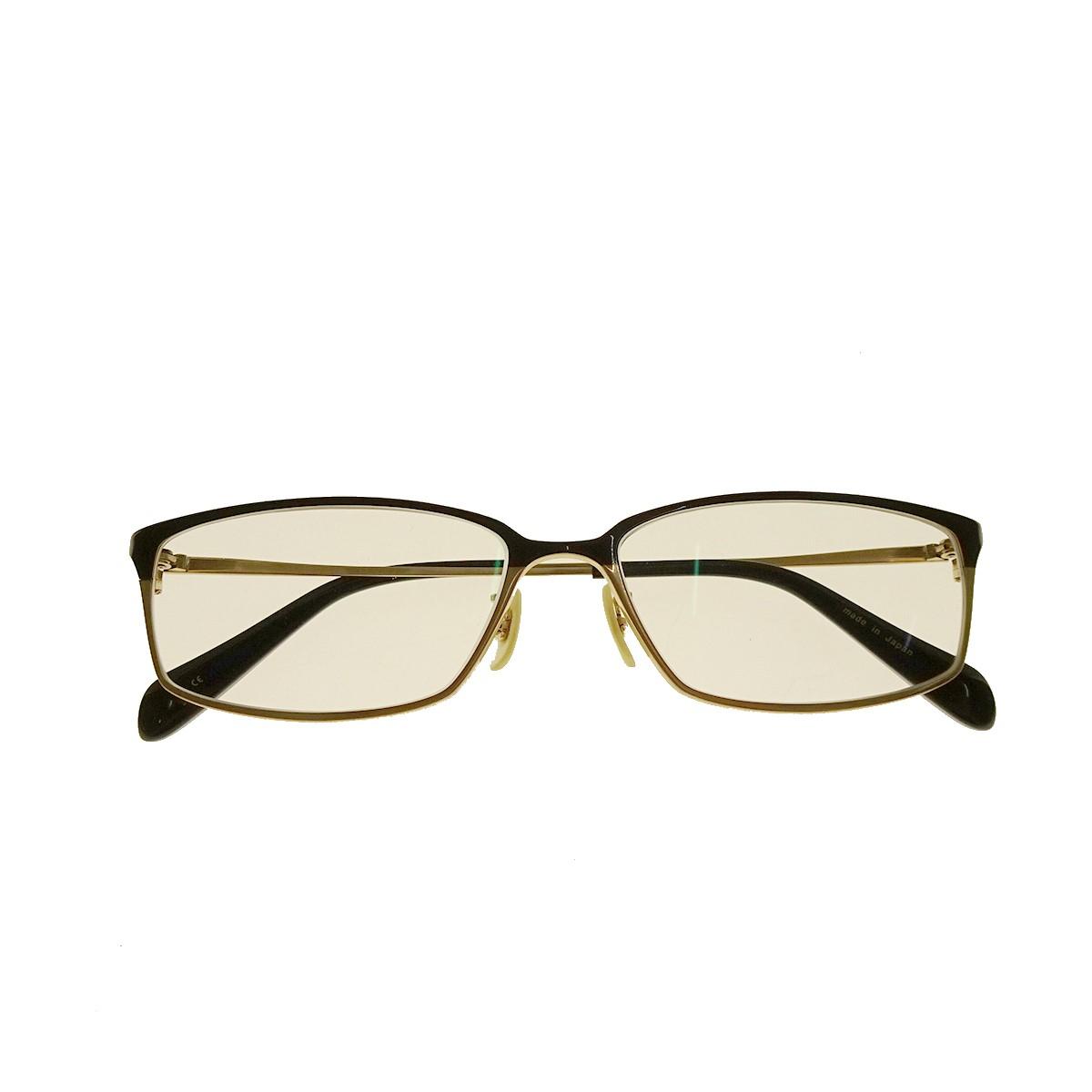 【中古】OLIVER PEOPLES Westmore スクエアフレーム眼鏡 ブラック×ゴールド サイズ:54□15-140 【260820】(オリバーピープルズ)