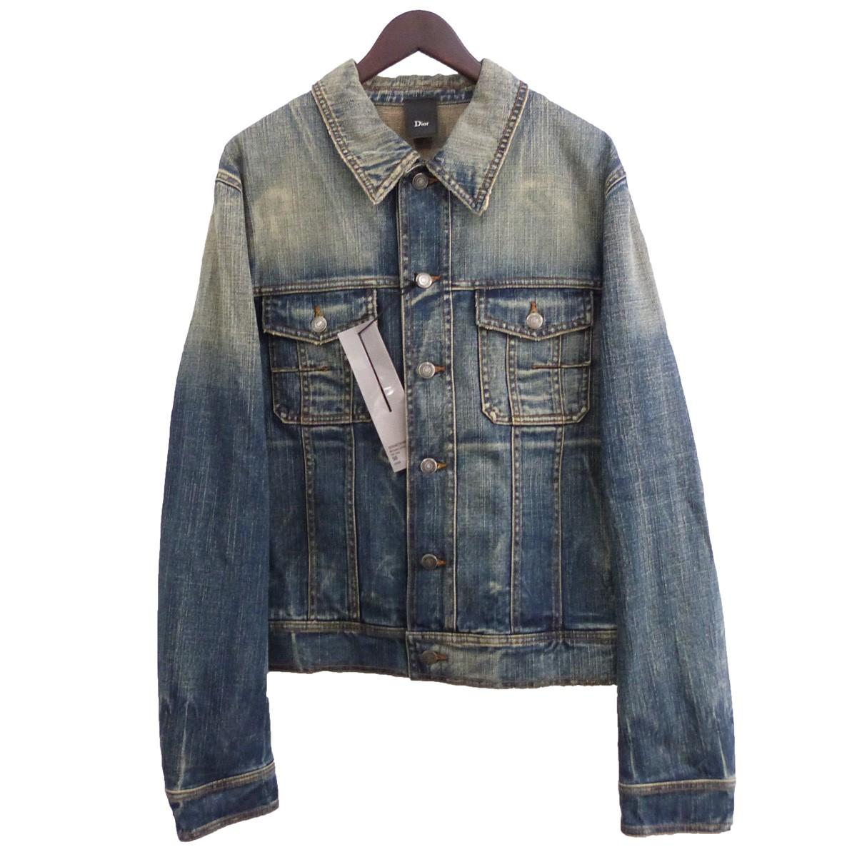 【中古】Dior Homme ウォッシュ加工デニムジャケット インディゴ サイズ:50 【260820】(ディオールオム)