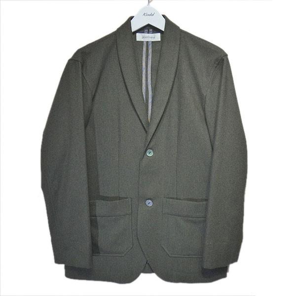 【中古】prasthana 2019AW「semidress jacket」ショールカラージャケット オリーブ サイズ:1(M) 【260820】(プラスターナ)