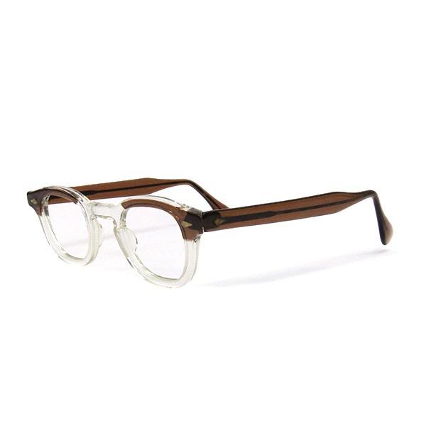【中古】TART OPTICAL ARNEL ヴィンテージフレーム メガネ 眼鏡 Made in USA ブラウン サイズ:44-26 【250820】(タート オプティカル)