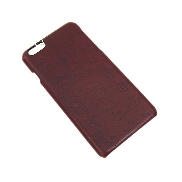 【中古】MARTIN MARGIELA 11 レザー エンボス iPhone 6 plus アイフォンケース ブラウン 【250820】(マルタンマルジェラ 11)