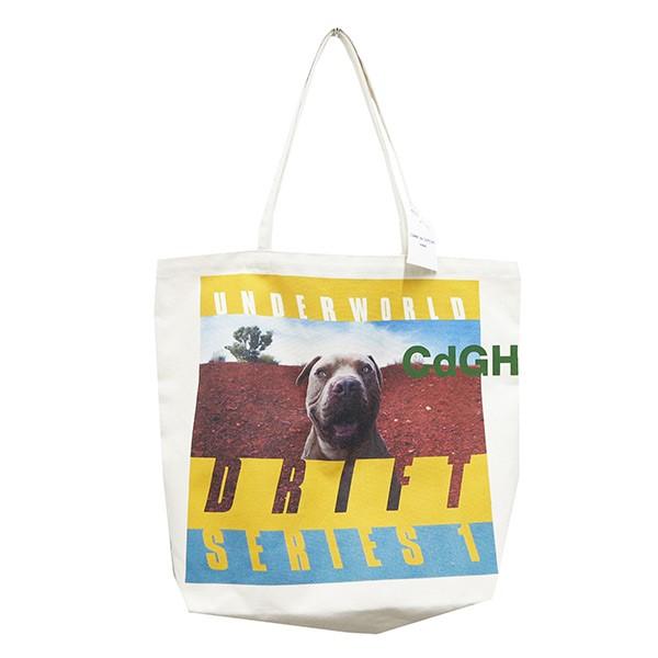 【中古】COMME des GARCONS HOMME 綿帆布 製品プリントトートバッグ ベージュ 【250820】(コムデギャルソンオム)