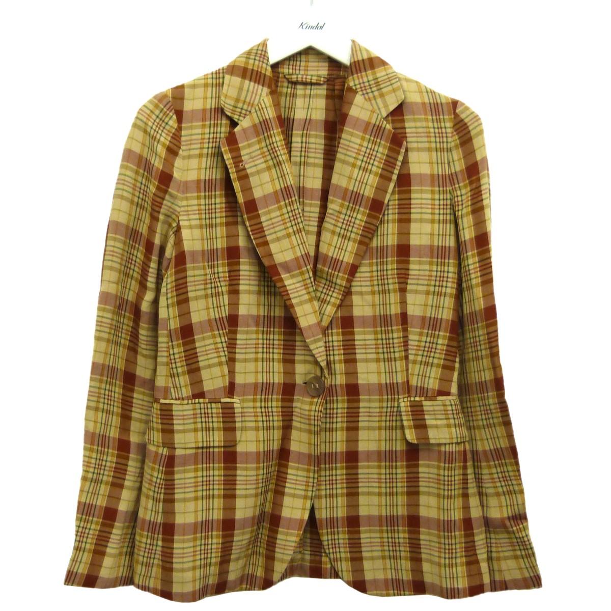【中古】ACNE STUDIOS 「Checked Print Blazer」チェックジャケット ベージュ×ブラウン サイズ:34 【260820】(アクネストゥディオズ)