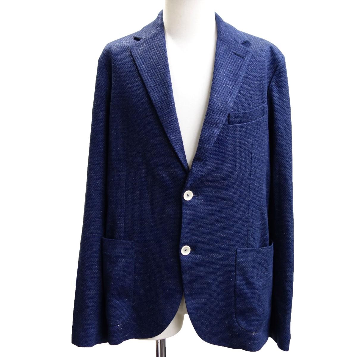 【中古】Circolo 1901 リネンストレッチテーラードジャケット ネイビー サイズ:48 【260820】(チルコロ)