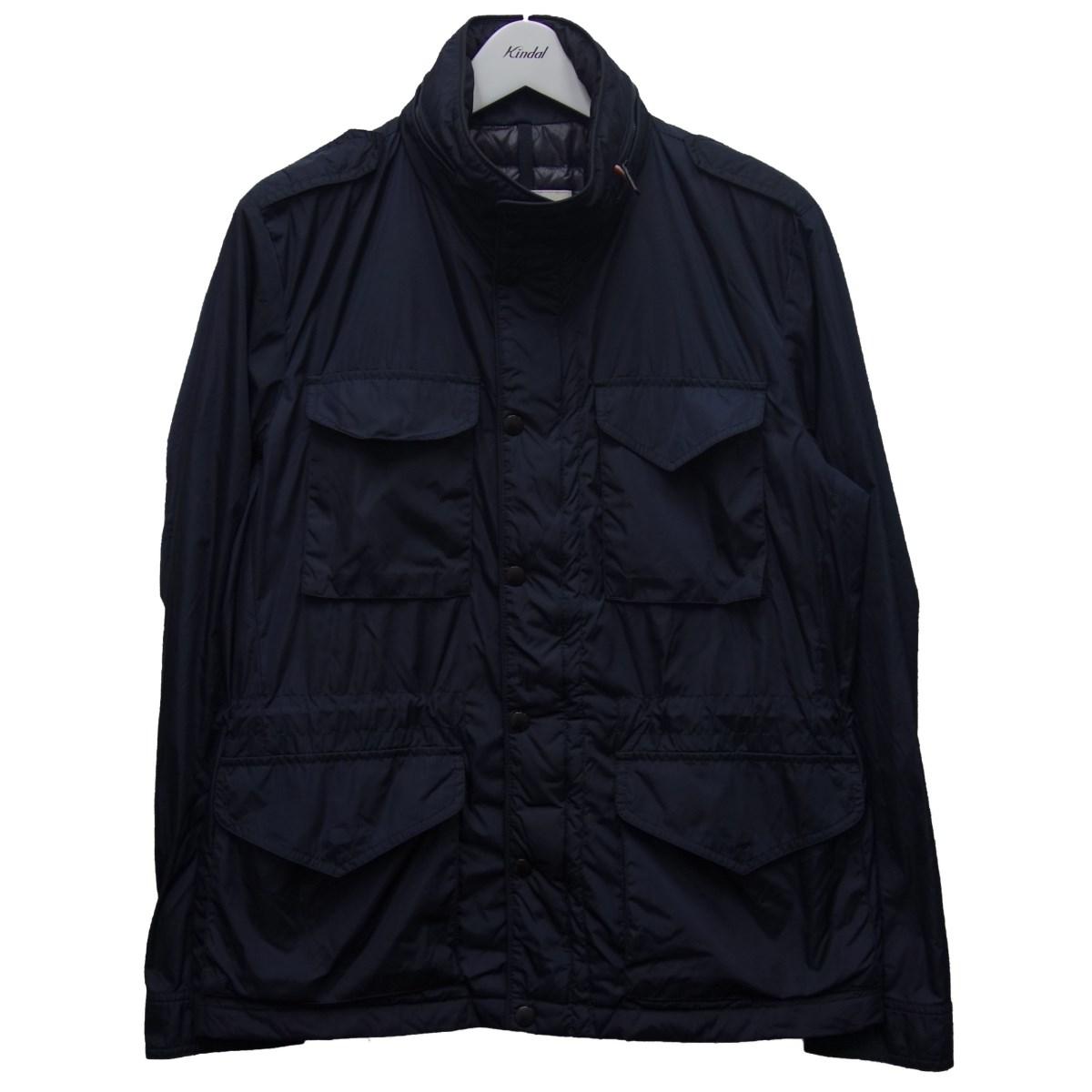 【中古】MONCLER 「YOANN」M-65ヨアンダウンジャケット ネイビー サイズ:2 【260820】(モンクレール)