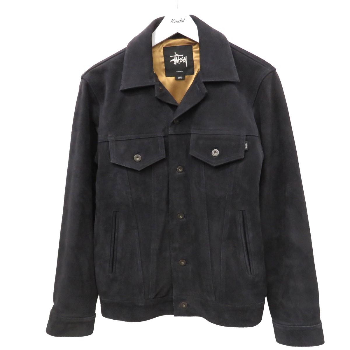 【中古】Stussy スエードレザージャケット ブルゾン 3rd ブラック サイズ:S 【270820】(ステューシー)