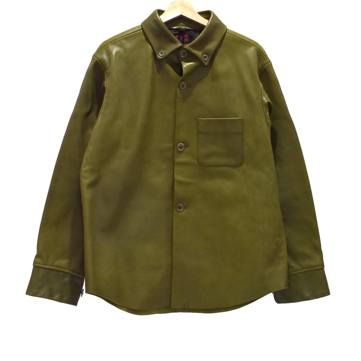 【中古】BRU NA BOINNE ターナージャケット レザージャケット オリーブ サイズ:2 【280820】(ブルーナボイン)
