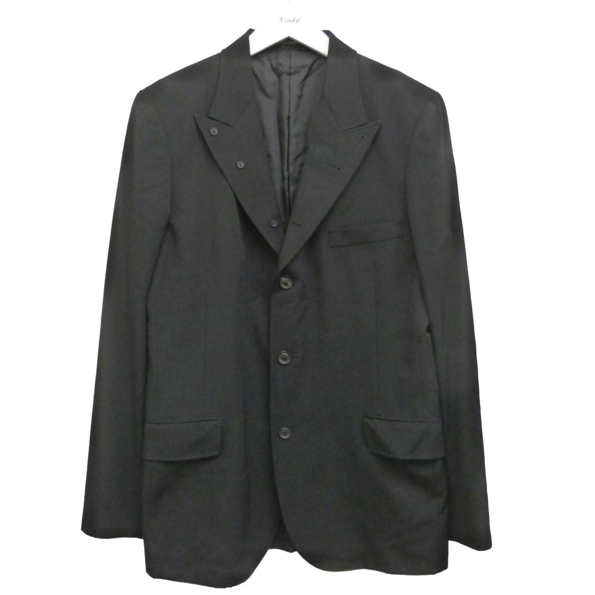 【中古】YOHJI YAMAMOTO '19AW ウールギャバジン6釦テーラードジャケット ブラック サイズ:2 【280820】(ヨウジヤマモト)