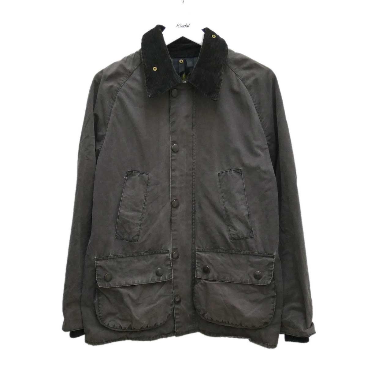 【中古】Barbour オイルドジャケット BEDAILE グレー 【290820】(バーブァー)