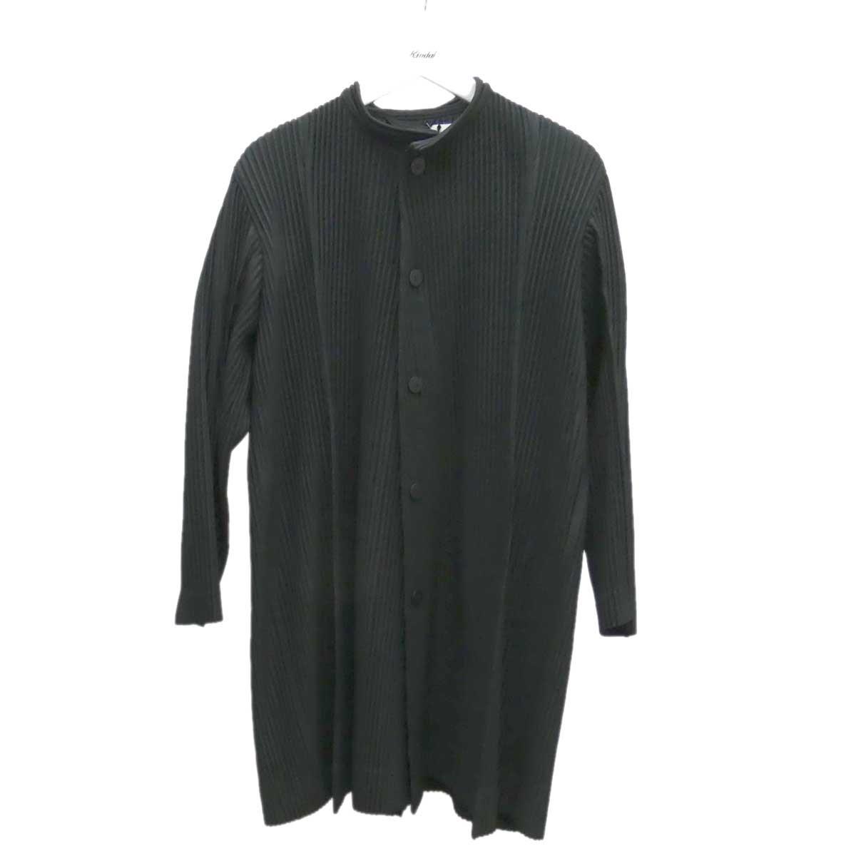 【中古】HOMME PLISSE ISSEY MIYAKE プリーツジャケット HP01JA219 ROCK ブラック サイズ:1 【290820】(オム プリッセ イッセイ ミヤケ)