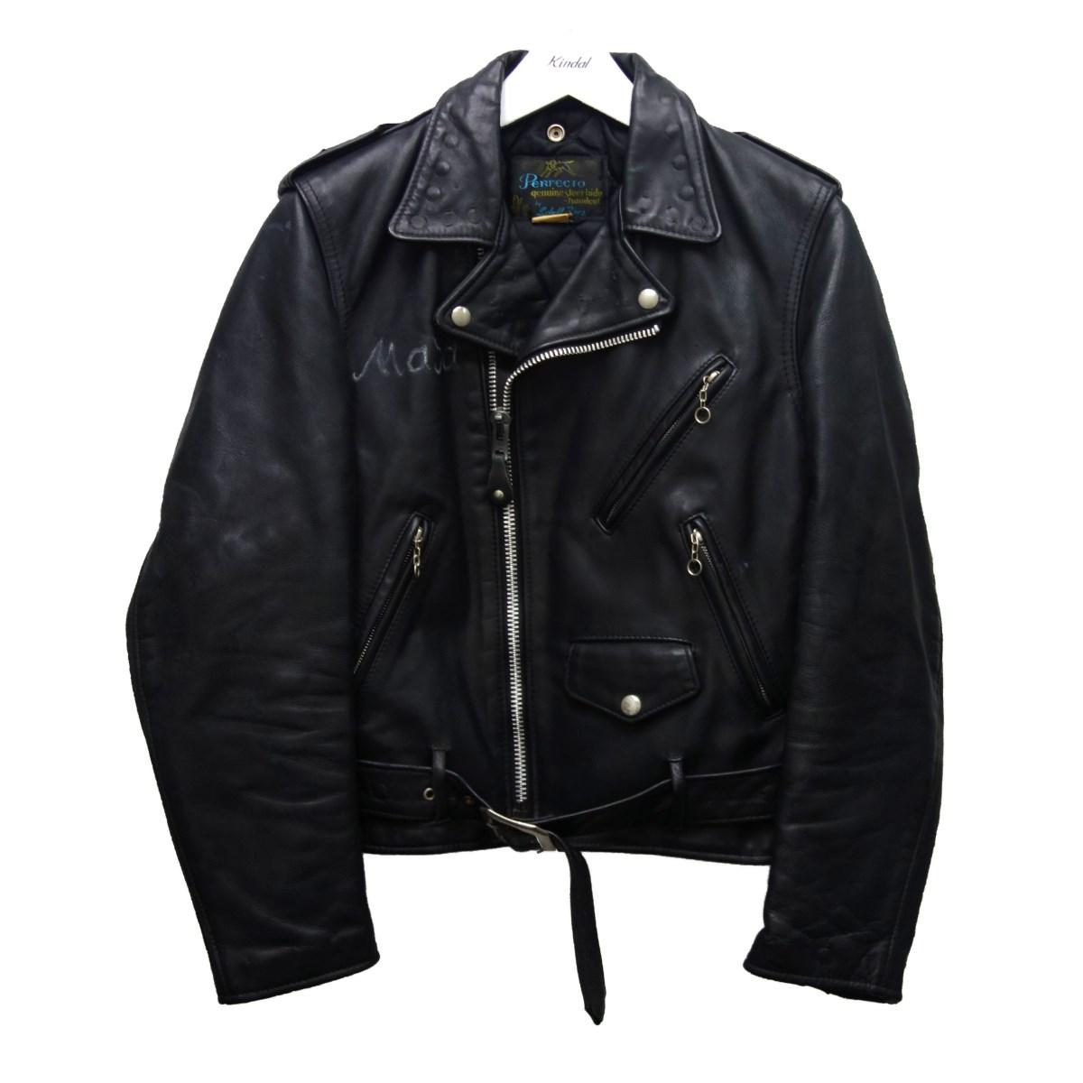 【中古】SCHOTT 「613XX」 ワンスターダブルライダースジャケット ブラック サイズ:36 【290820】(ショット)