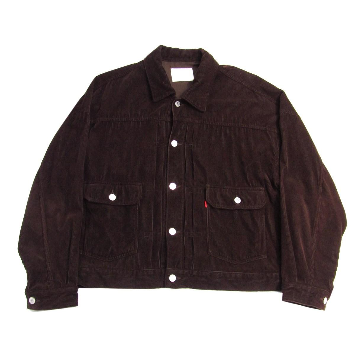 【中古】NEON SIGN 2016AW hipster jacket コーデュロイジャケット ブラウン サイズ:2 【290820】(ネオン サイン)