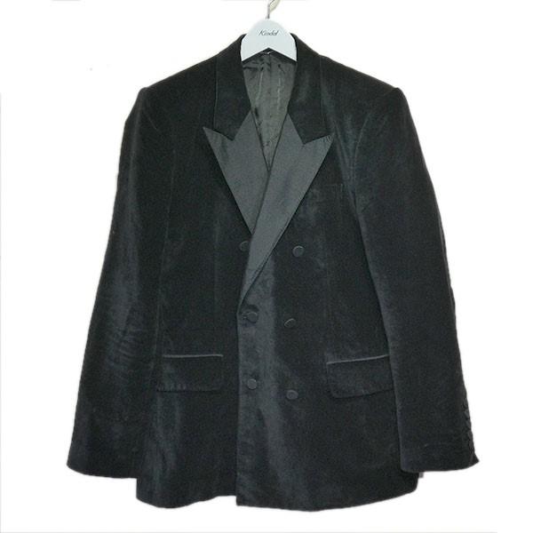 【中古】JOHN LAWRENCE SULLIVAN ピークドラペルベロアジャケット ブラック サイズ:46 【300820】(ジョンローレンスサリバン)