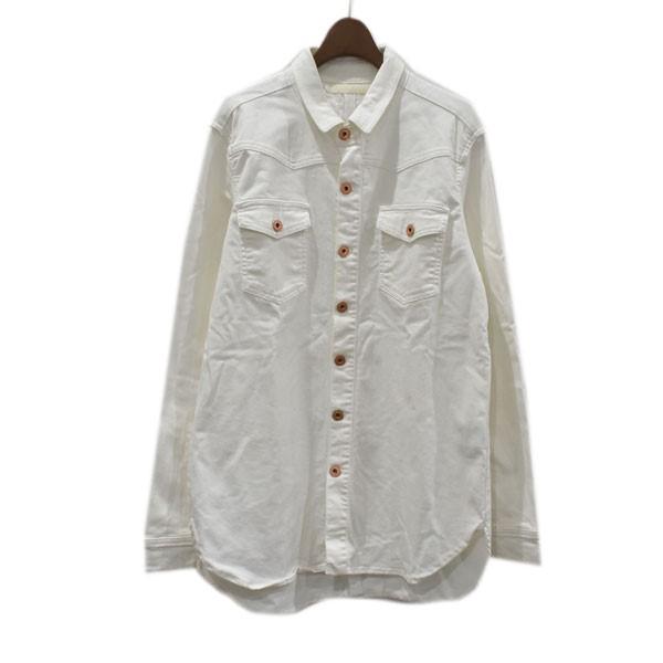 【中古】OFFWHITE シャツジャケット ホワイト サイズ:XS 【300820】(オフホワイト)