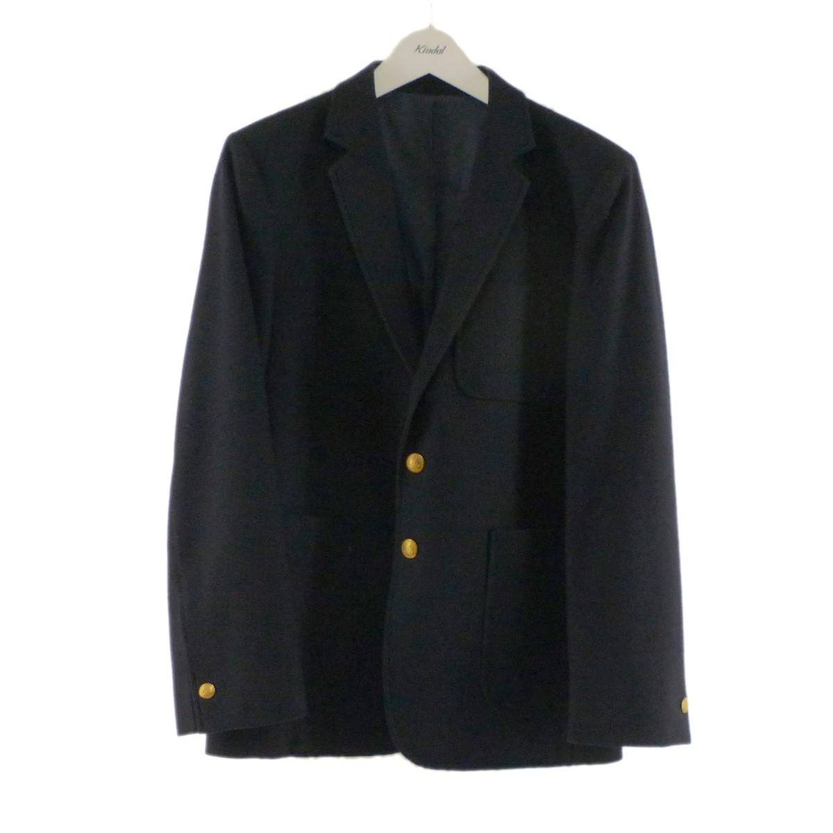 【中古】MAISON KITSUNE 金ボタンウールジャケット ネイビー サイズ:44 【300820】(メゾンキツネ)