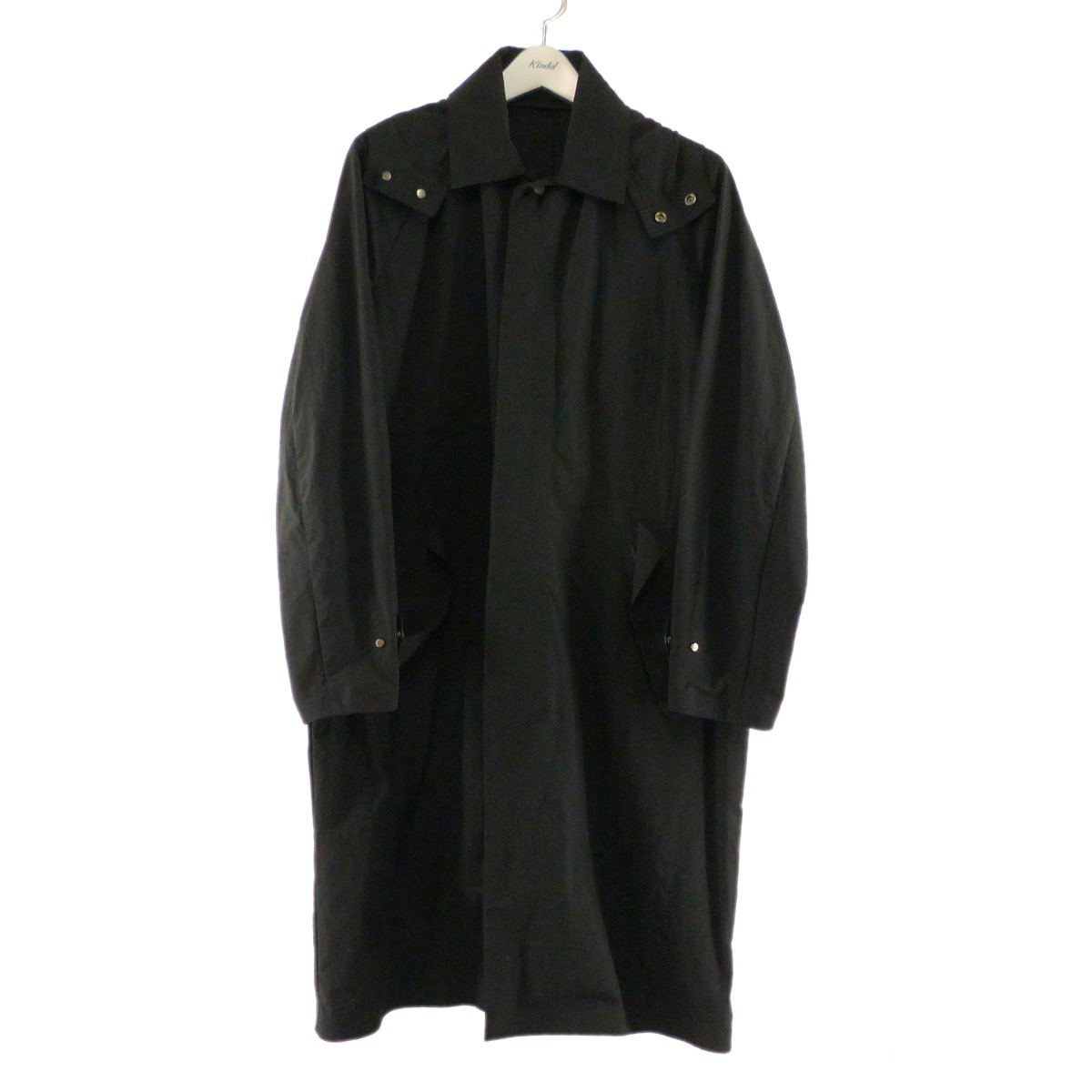 【中古】DESCENTE PAUSE フード付きステンカラーコート ブラック サイズ:M 【300820】(デサントポーズ)