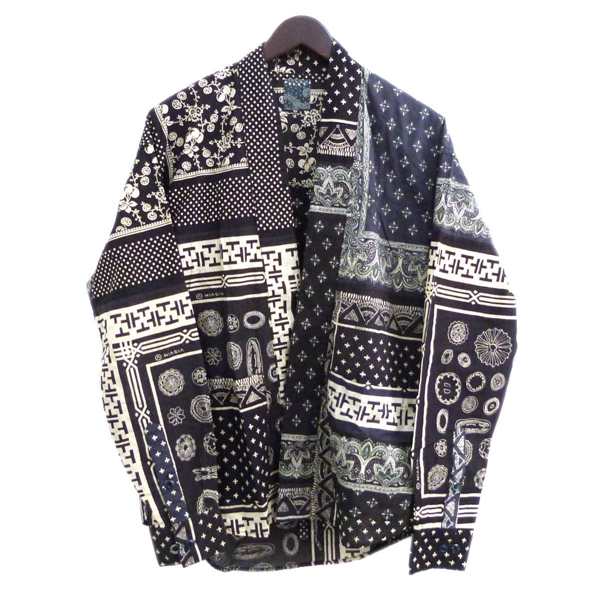 【中古】VISVIM 20SS 「LHAMO SHIRT」 バンダナ柄ラモシャツ ブラック サイズ:1 【310820】(ビズビム)