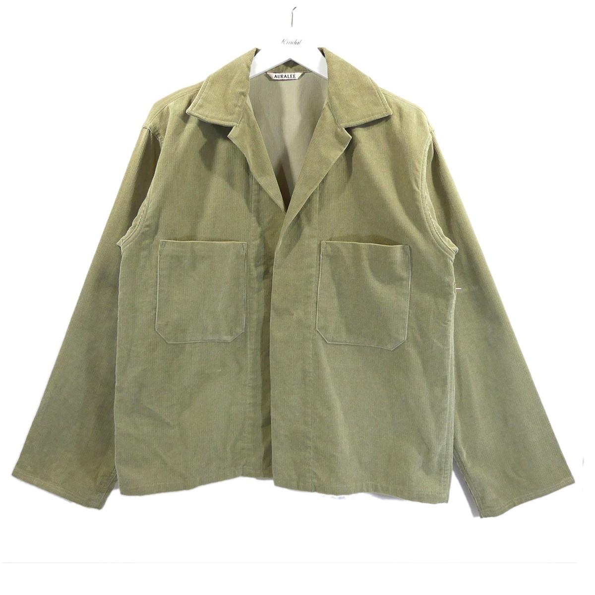 【中古】AURALEE コーデュロイシャツジャケット 18AW WASHED CORDUROY SHIRTS JACKET ベージュ サイズ:4 【310820】(オーラリー)