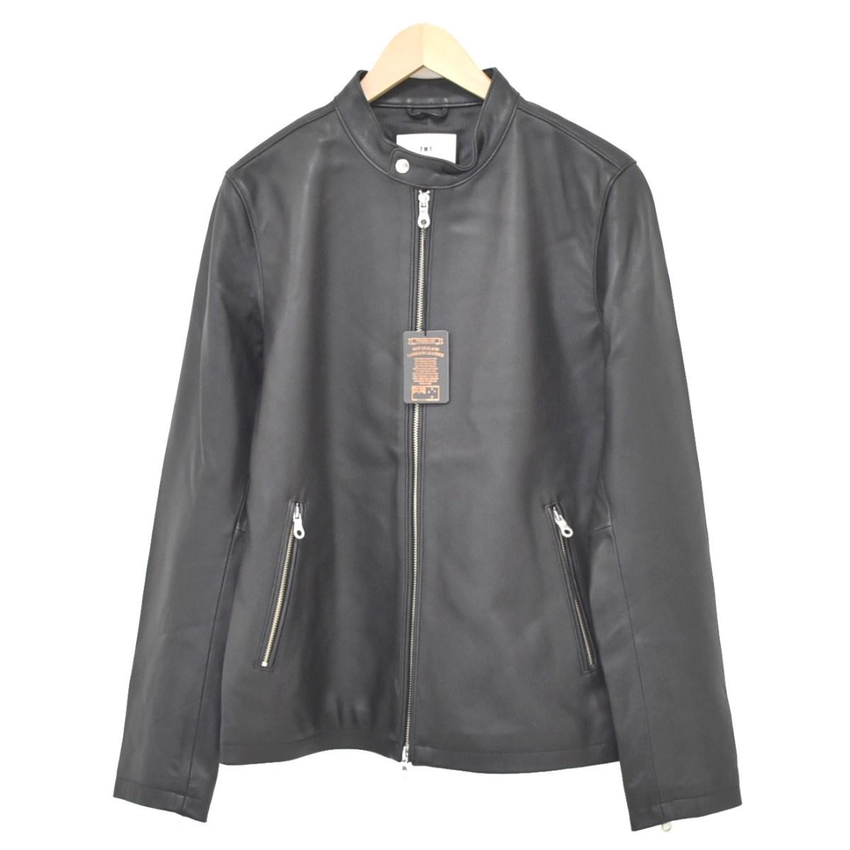 【中古】TMT レザージャケット ブラック サイズ:L 【010920】(ティーエムティー)