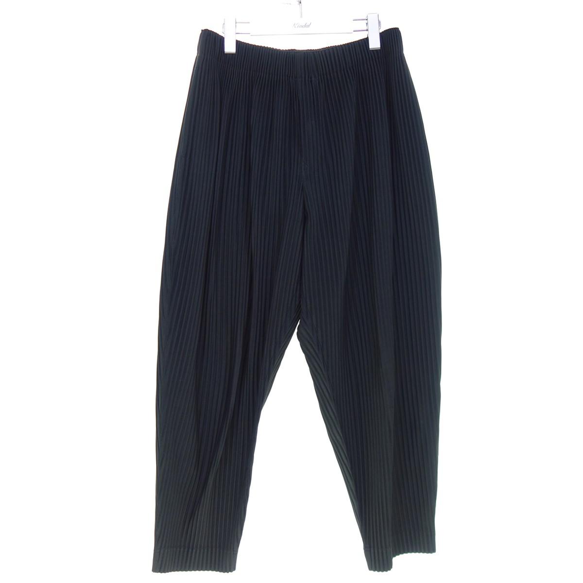 【中古】HOMME PLISSE ISSEY MIYAKE 20SS プリーツパンツ ブラック サイズ:2 【010920】(オムプリッセ イッセイミヤケ)