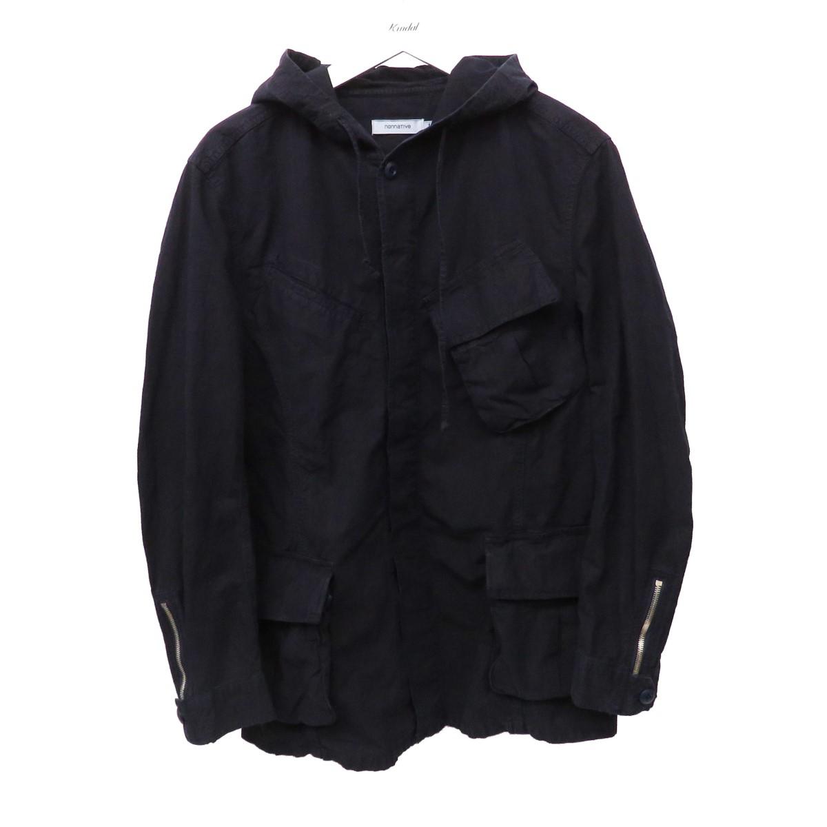【中古】nonnative 2016SS TROPPER HOODED JACKET フーデッドジャケット ネイビー サイズ:1 【010920】(ノンネイティブ)