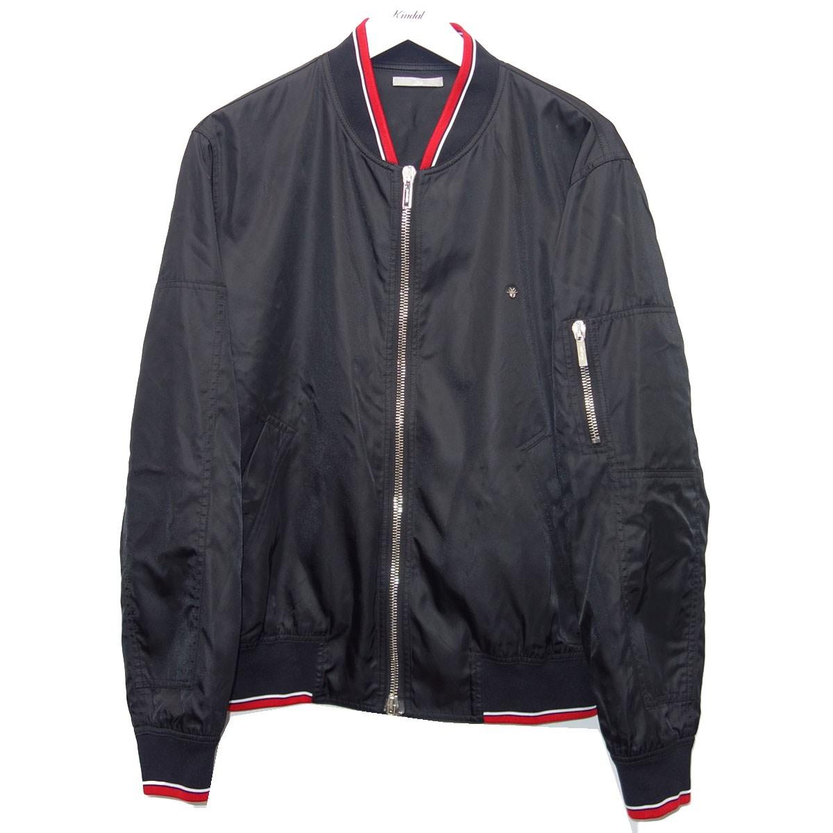 【中古】Dior Homme 17AW ナイロンジャケット ブラック サイズ:52 【010920】(ディオールオム)