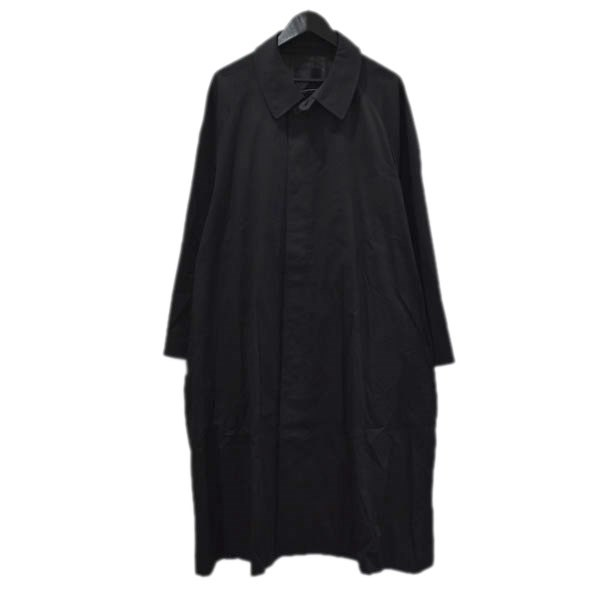 【中古】LAD MUSICIAN 20SS SOUTIEN COLLAR COAT ステンカラーコート ブラック サイズ:42 【020920】(ラッドミュージシャン)