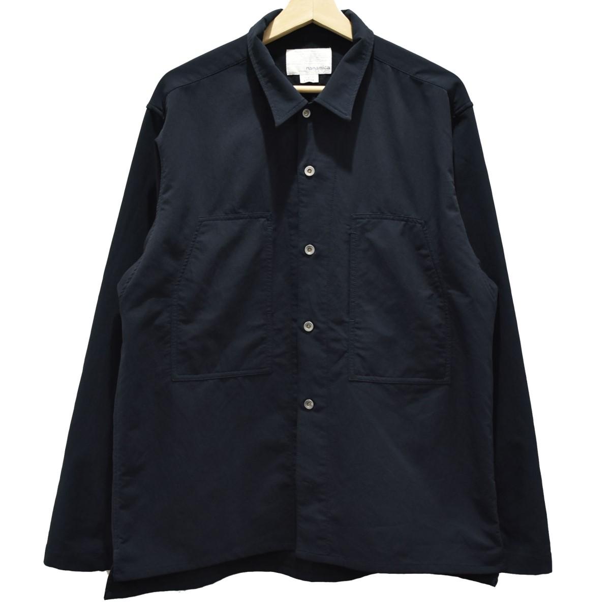 【中古】nanamica ALPHADRY Shirt Jacket シャツジャケット ジャケット ネイビー サイズ:L 【020920】(ナナミカ)