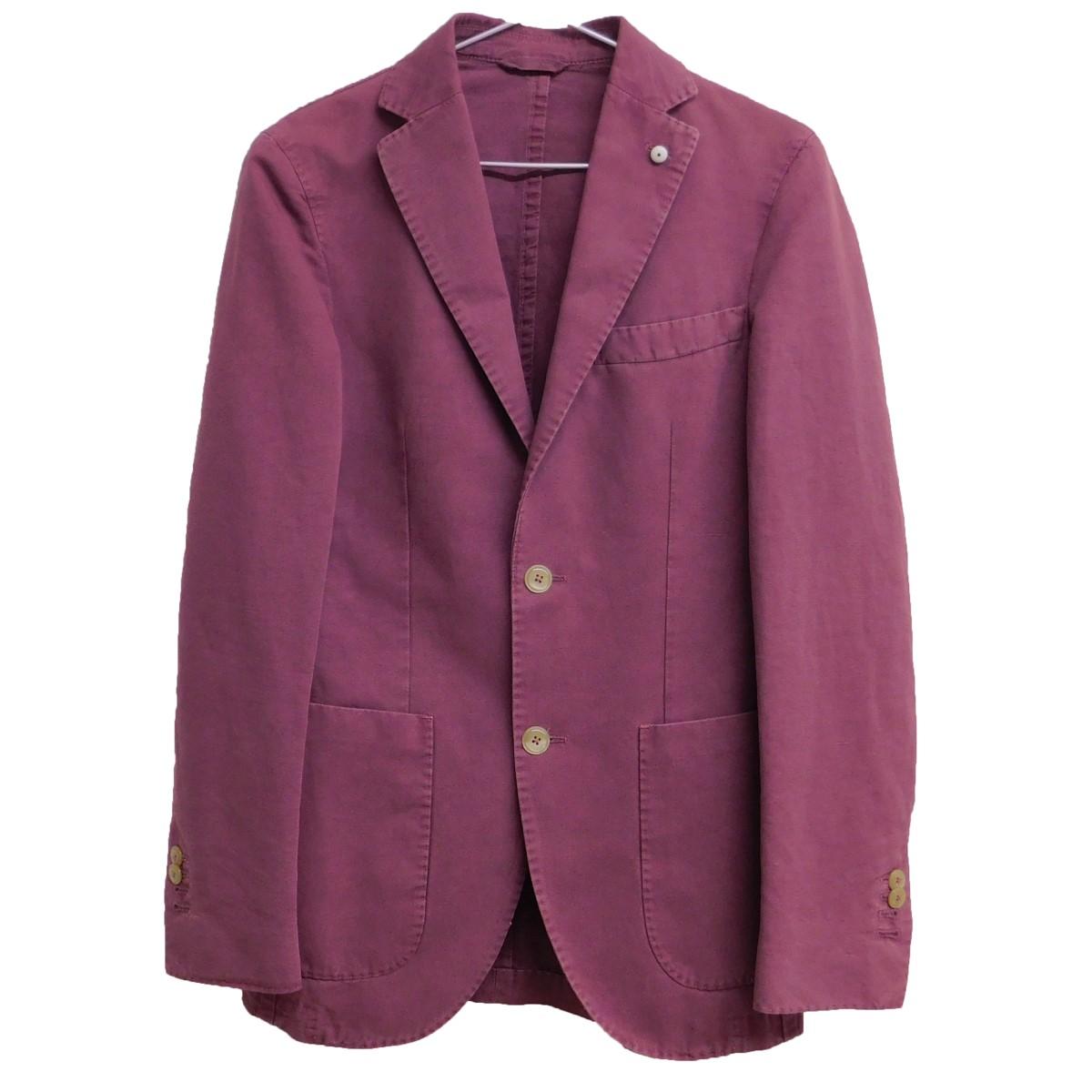 【中古】L.B.M.1911 リネン混テーラードジャケット バイオレット サイズ:42 【010920】(エルビーエム)