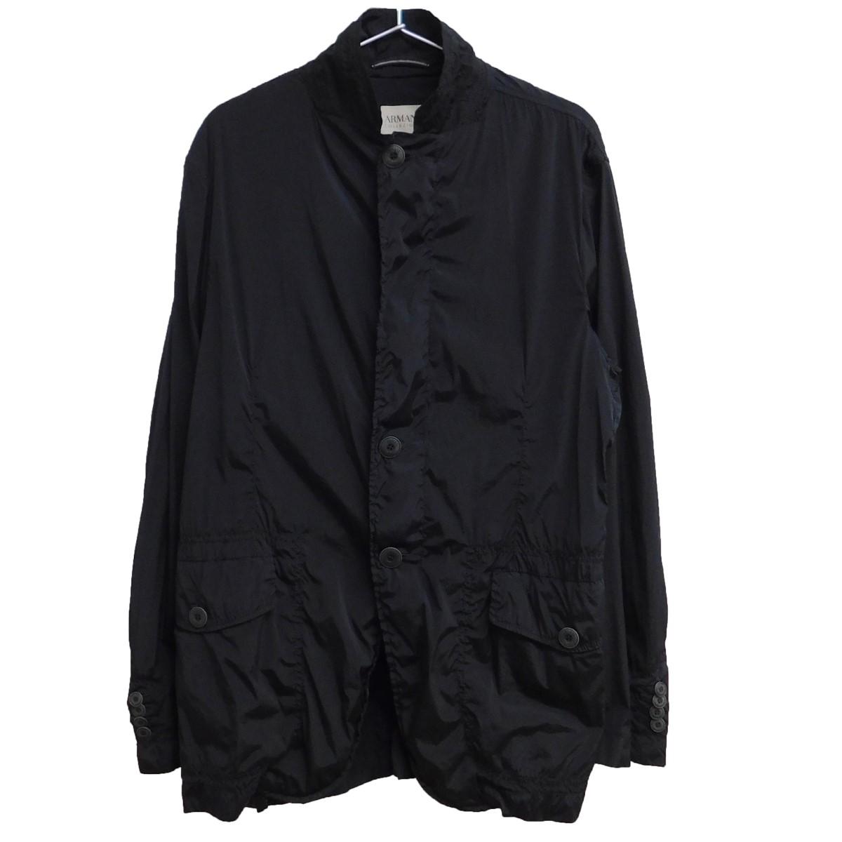 【中古】ARMANI COLLEZIONI ストレッチ素材ナイロンジャケット ブラック サイズ:EU50 【010920】(アルマーニコレツィオーニ)