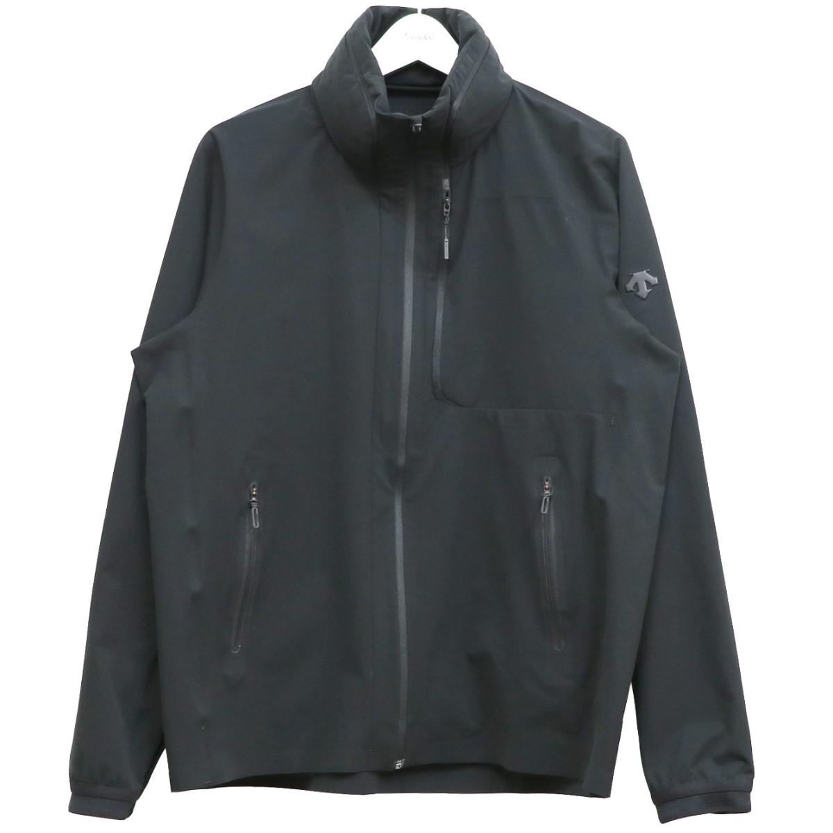 【中古】DESCENTE ALLTERRAIN 20SS COOL DOTS PACKABLE JACKETパッカブルライトジャケット ブラック サイズ:O 【020920】(デサント オルテライン)